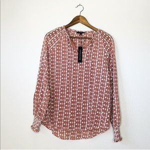 NWT Walter Baker Embroidered Long Sleeve Top